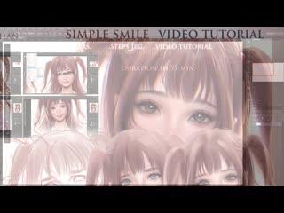 SakimiChan ART - term 29 - simple_smile_vidtutorial
