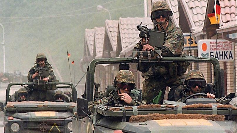 Бундесвер ввел войска в Косово 12 июня 1999. Источник: dpa
