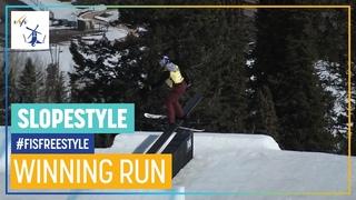 Tess Ledeux   1st place   Women's Slopestyle   Aspen   FIS Freestyle Skiing