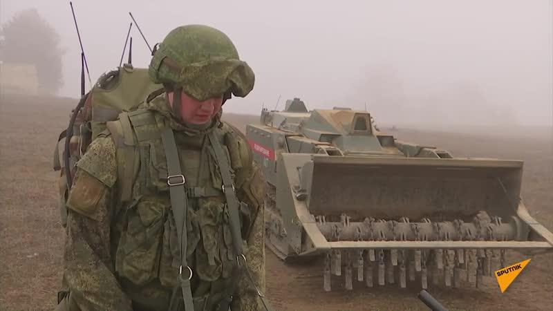 Нагорный Карабах_ Российские миротворцы продолжают разминирование Степанакерта