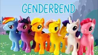 My Little Pony Genderbend - Mane 6 Transformed into Boys Pony Custom Compilation