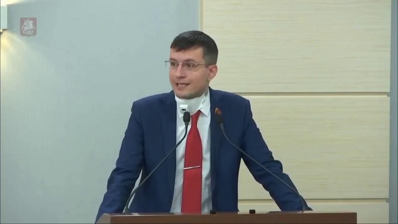 Депутат МГД Тарасов о законности всего происходящего с трибуны Мосгордумы.