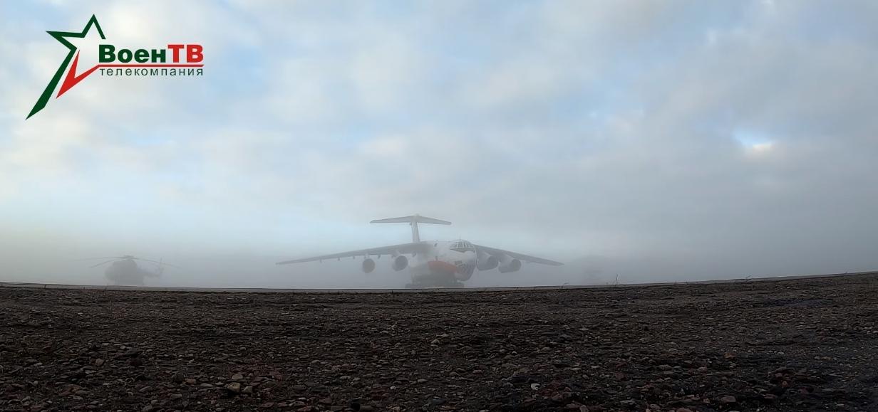Посмотрите, как белорусский Ил-76 высаживает десантников под Брестом