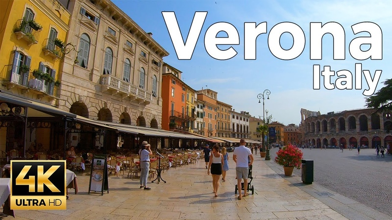 Verona Italy Walking Tour 4k Ultra HD 60fps
