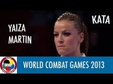 Karate Women's Kata. Yaiza MARTIN ABELLO of Spain. Finals Gold Medal Fight