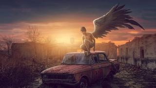 Side Wing Sunset Effect Photo Manipulation Photoshop Tutorial