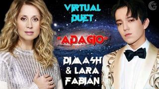 Dimash & Lara Fabian Virtual Duet «ADAGIO»EN/KZ/RU ❤ Димаш и Лара Фабиан Виртаульный дуэт «АДАЖИО»