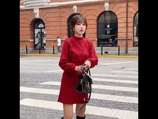 Повседневная женская юбка-свитер, новинка осень-зима 2020,