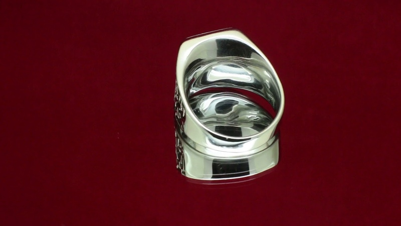 Мужской перстень Гранатовый сад