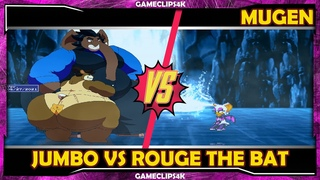 Jumbo Elephant Vs Rouge The Bat [Hard Fight] MUGEN CHAR