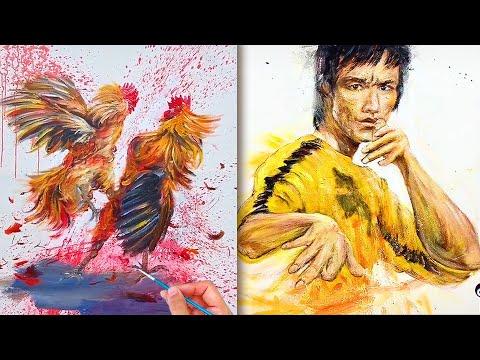 Chàng họa sĩ tài hoa💘Nghệ thuật vẽ tranh đỉnh cao của họa sĩ Trung Quốc 37💘Most Amazing Art Drawing