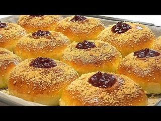 Приготовьте эти БУЛОЧКИ С ПОВИДЛОМ, сдобное тесто/Buns with jam and crumb
