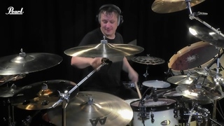 Ray Luzier playing the Pearl Masterworks kit   Korn - Rotting in vain
