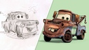 How to Draw Mater from Cars Draw With Pixar