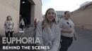 Euphoria set tour with sydney sweeney behind the scenes of season 1 HBO