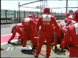 Michael Schumacher wins on a 4 stop strategy