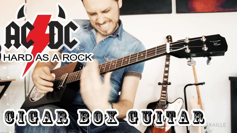Hard as a Rock ACDC Cigar Box Guitar Cover by Jerome Graille