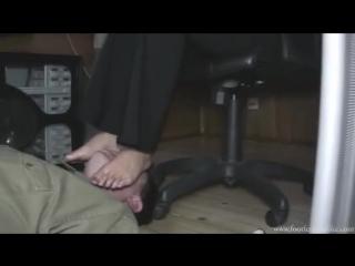 Goddess Jessica Foot fetish office Фут фетиш офис раб под столом slave under desk #footjob #trampling #mistress
