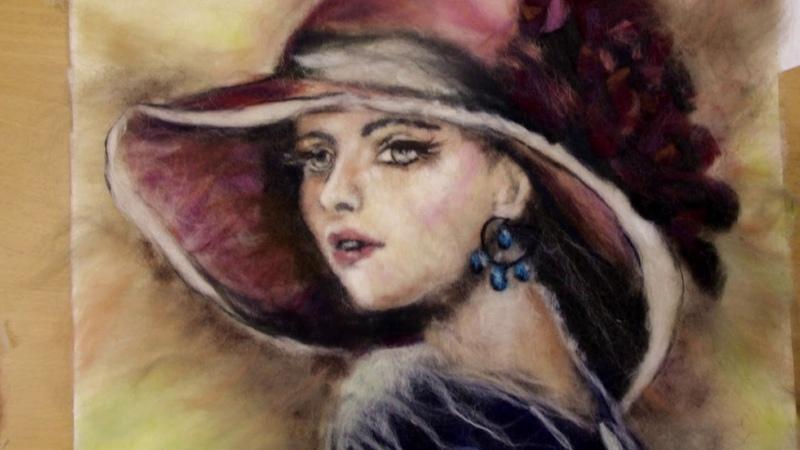 Шерстяная живопись с Яной Богдановой г Санкт Петербург