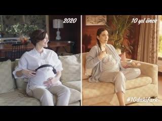 Бергюзар Корель в рекламе подгузников