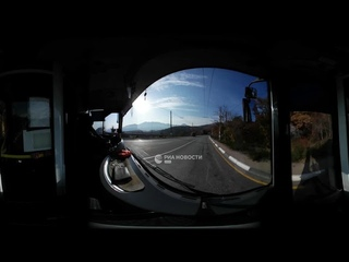 На троллейбусе через перевал в Крымских горах, не выходя из дома