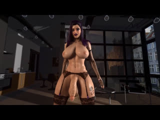 Секс от первого лица с футой Sound futanari futa 3D фута big dick cum big tits a
