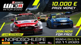 RaceRoom | Esports WTCR 2020 | R4/Div 2-3-4 Nordschleife
