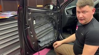Правильная шумоизоляция дверей автомобиля.