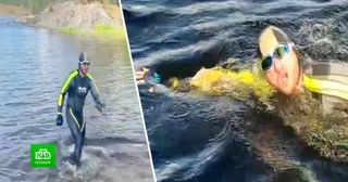 Петербургский пловец установил рекорд России на Ладоге