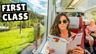FIRST CLASS GLACIER EXPRESS TRAIN (worth $300 for an 8 hour train ride?)