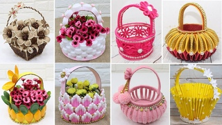 10 Best collection Flower Basket craft from different materials