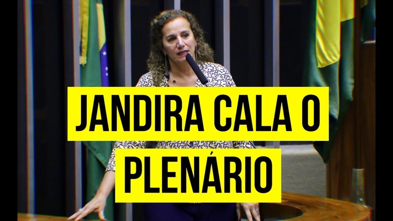 EM DISCURSO, JANDIRA SOBE O TOM, FALA DA CRUELDADE DA REFORMA E A LUTA DEMOCRÁTICA!