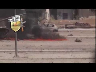 18+ Syria - Assad Tank has Bad Day in Zamalka as Rebels Repel Invasion Force 8-26-13