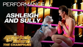 Ashleigh and Sully: Trainer Introduces Incredible Dog To AGT - America's Got Talent: The Champions