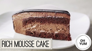 Rich Chocolate Mousse Cake   Anna Olson