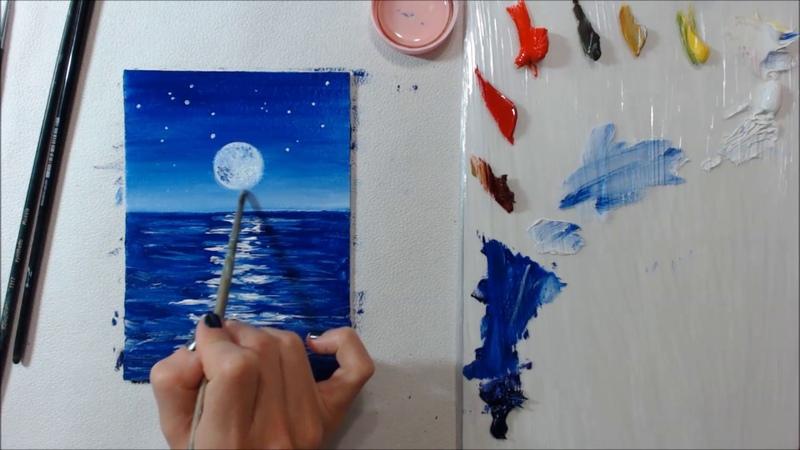 Видео урок рисования масляные краски