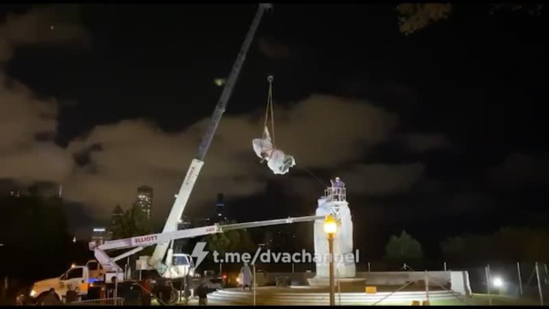 В Чикаго власти прогнулись под негров и демонтировали статую Христофору Колумбу