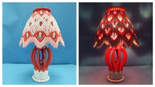 How to make 3D Origami Lamp | DIY | Papercraft