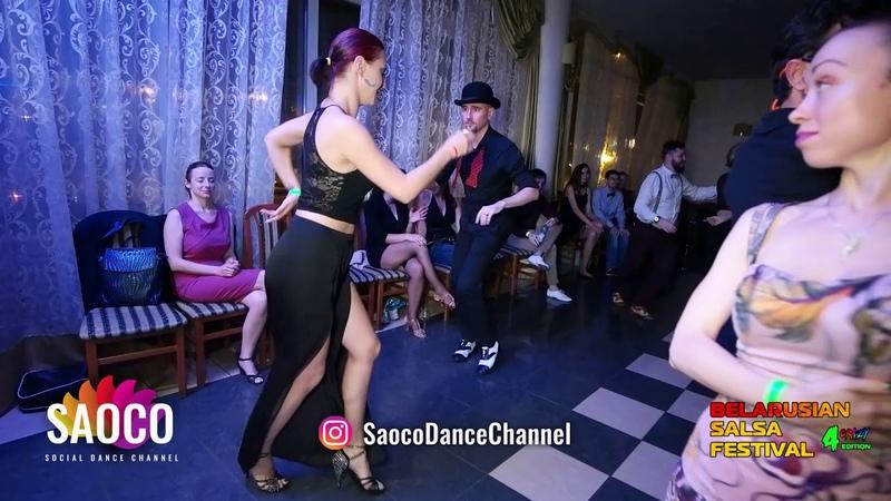 Anton Shcherbak and Kseniya Kozlovskaya Salsa Dancing at Belarusian Salsa Festival, Sat 29.09.2018
