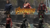 DCUO Closet (Infinity War) Bucky Barnes, Iron Man, Star Lord, Scarlet Witch, Black Widow, Gamora