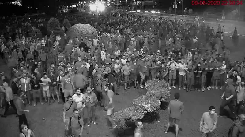 Следственный комитет опубликовал видео митингов в Минске 9 августа