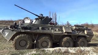 Стрельбы в Абхазии на берегу Черного моря армией России   АК-74, РПК, РПГ-7, БТР-82АМ