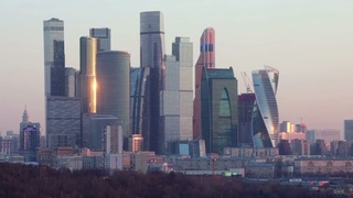 Весенний рассвет в Москве