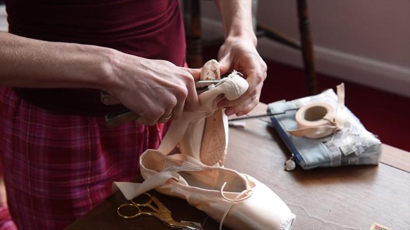 Slow TV Pointe Shoe Preparation English National Ballet