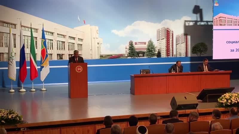 Выступление мэра Н Магдеева на XXXVII заседании горсовета