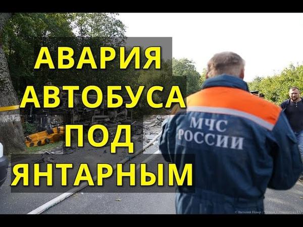 Ужасная авария автобуса под Янтарным