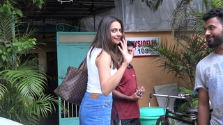 KAJOL & RAKULPREET SINGH SPOTTED OUTSIDE SALON STUDIO