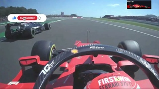 Charles Leclerc (Onboard Ferrari) View Crash Lewis Hamilton & Max Verstappen Silverstone BritishGP