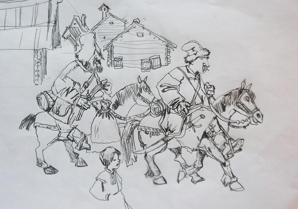 Александр Кухтерин Зарисовка «Пустозерцы», 2017