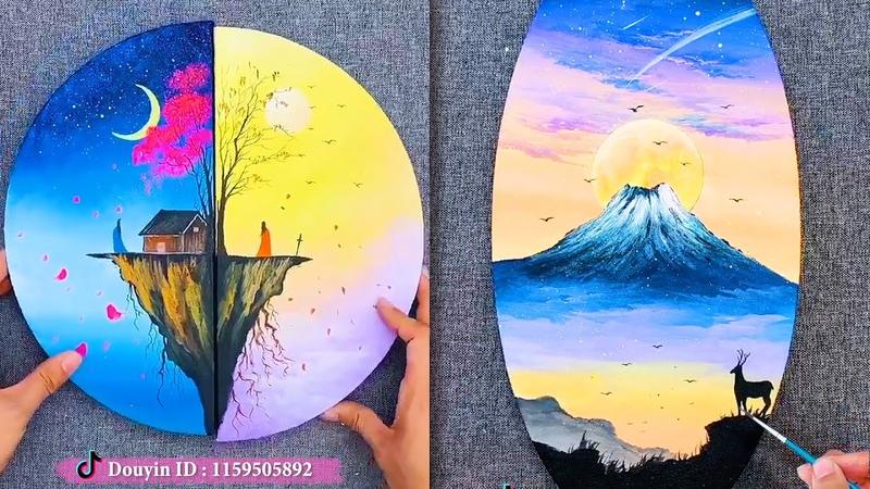 Creative Ideas💘Đỉnh Cao Của Nghệ Thuật Vẽ Tranh Phong Cảnh Tình Yêu Siêu Lãng Mạn▶64💘Painting artist